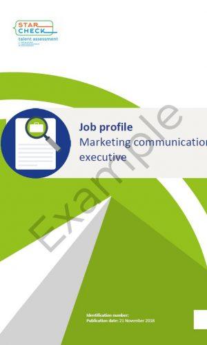 Job profile example 20190916